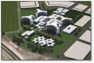 3D rendering del Gaziantep Integrated Health Campus